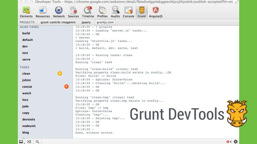 Grunt DevTools