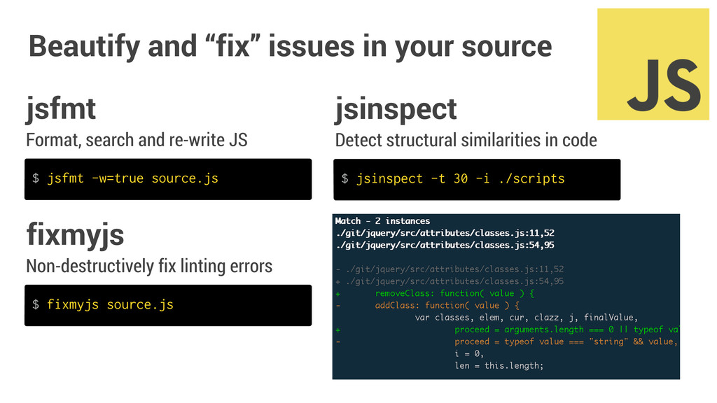 "Beautify and ""fix"" issues in your source Format..."