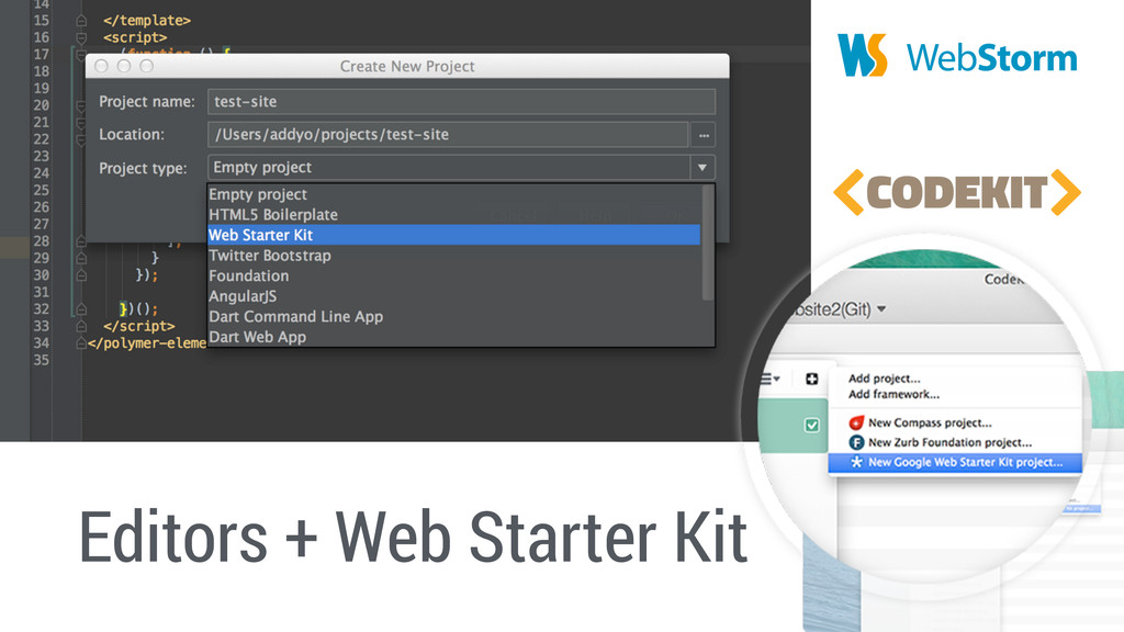 Editors + Web Starter Kit