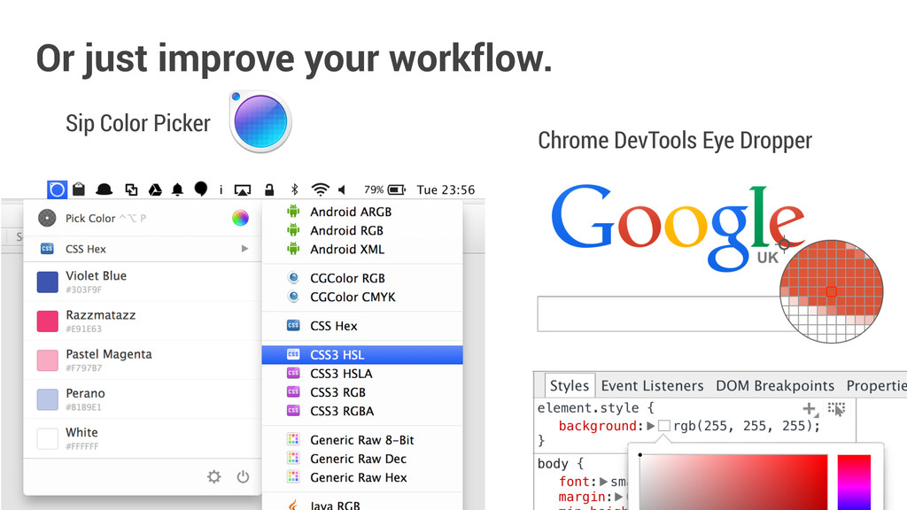 Sip Color Picker Or just improve your workflow....