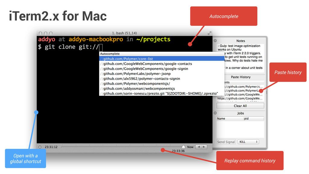 iTerm2.x for Mac Replay command history Autocom...