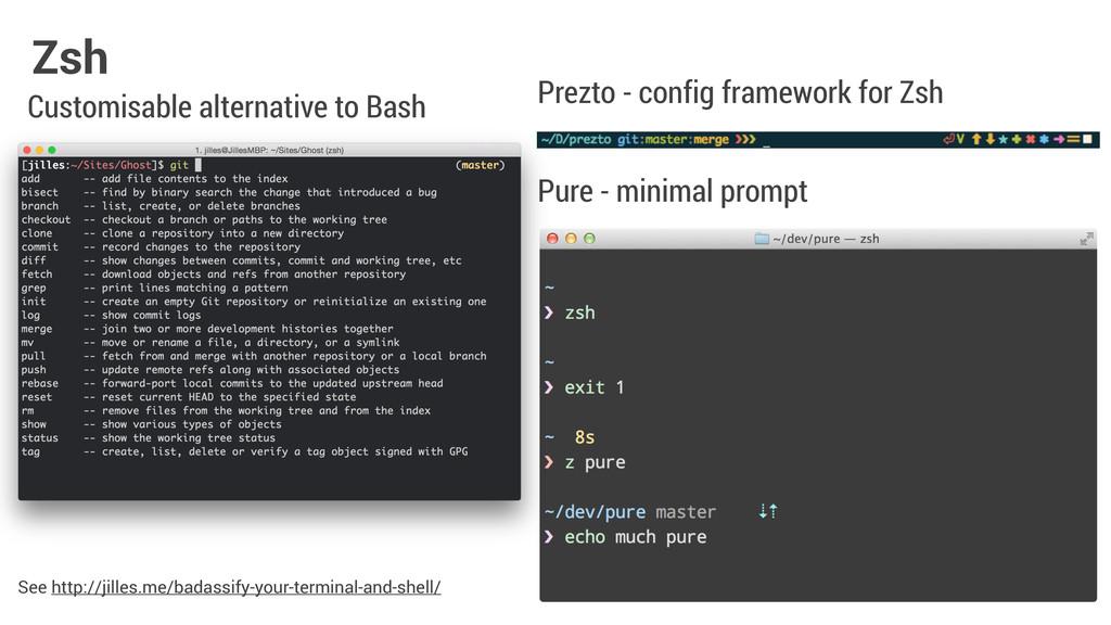 Zsh Pure - minimal prompt Prezto - config frame...