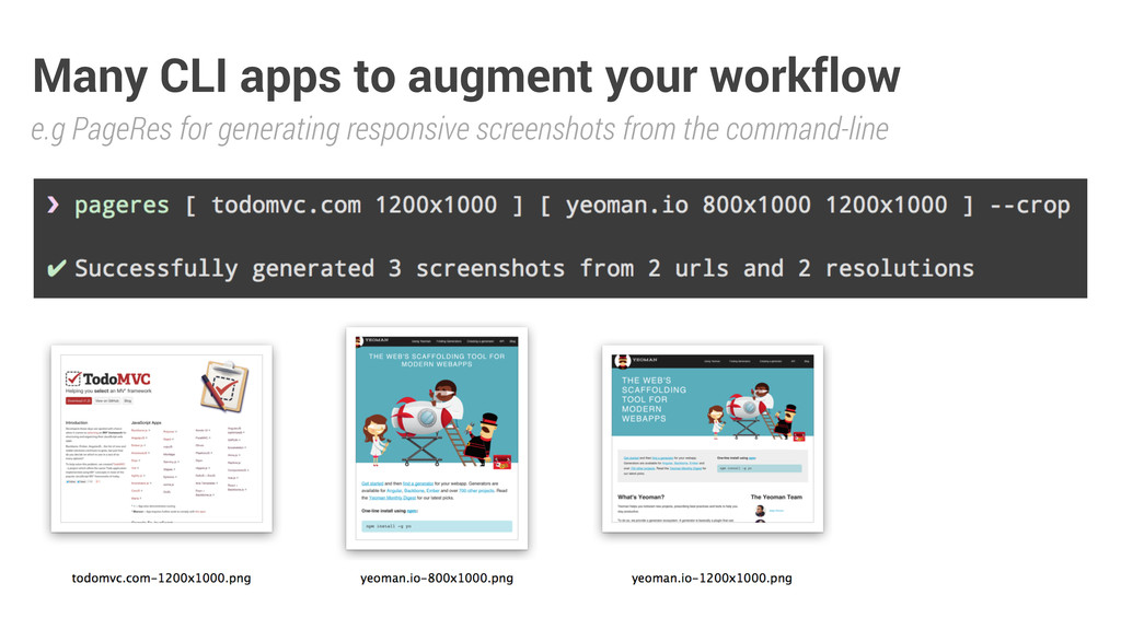 Many CLI apps to augment your workflow e.g Page...