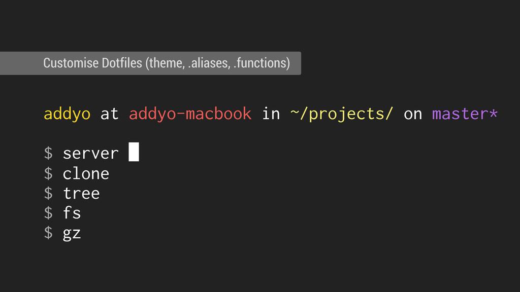 ! addyo at addyo-macbook in ~/projects/ on mast...