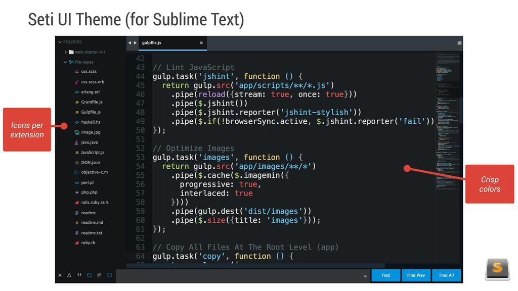 Seti UI Theme (for Sublime Text) Icons per exte...