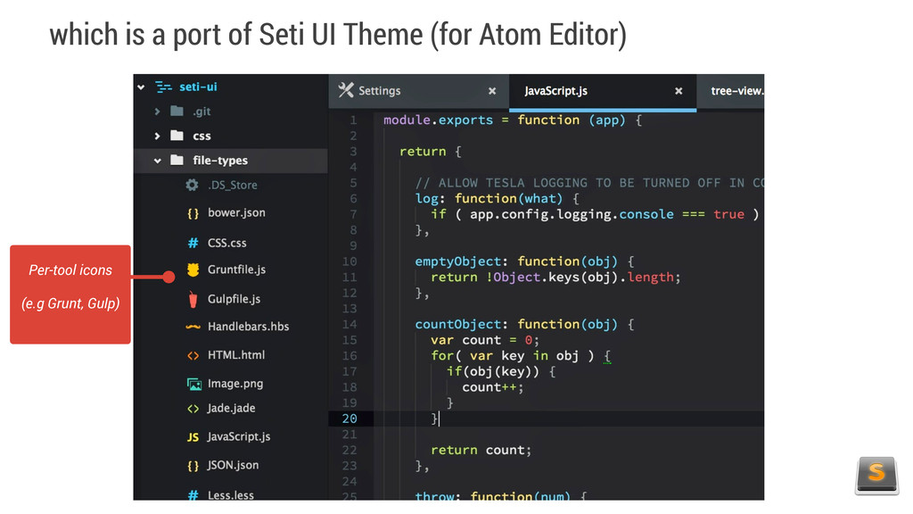 which is a port of Seti UI Theme (for Atom Edit...