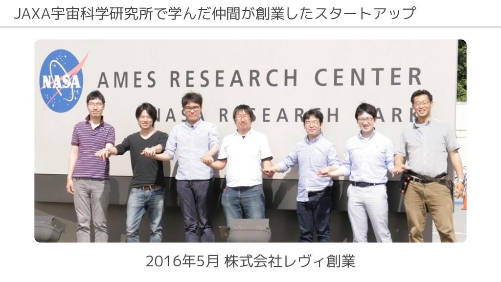JAXA宇宙科学研究所で学んだ仲間が創業したスタートアップ 2016年5月 株式会社レヴィ創業