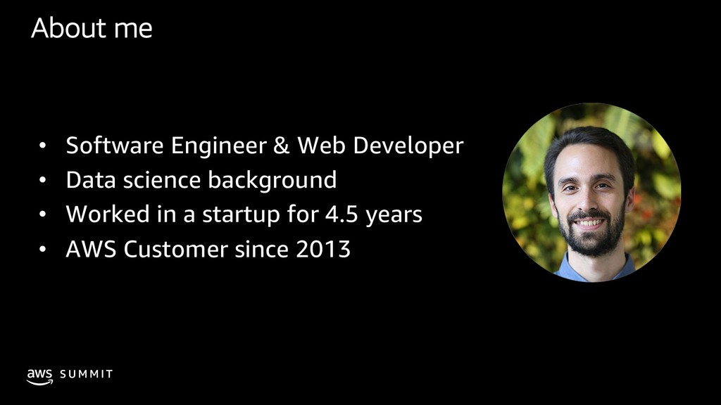 S U M M I T About me • Software Engineer & Web ...