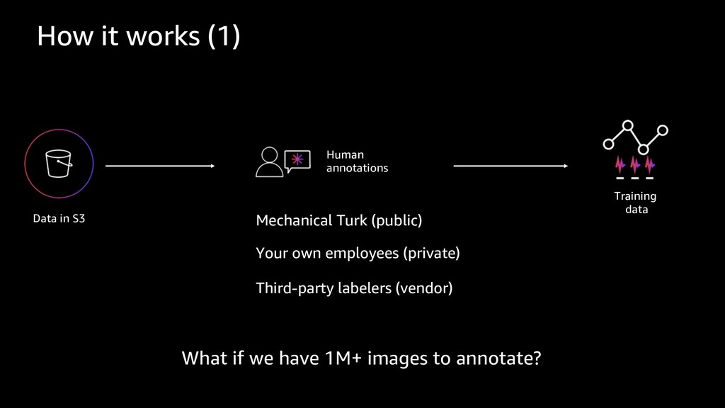 Data in S3 Mechanical Turk (public) Your own em...