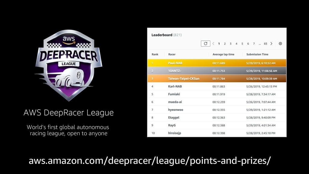 AWS DeepRacer League World's first global auton...