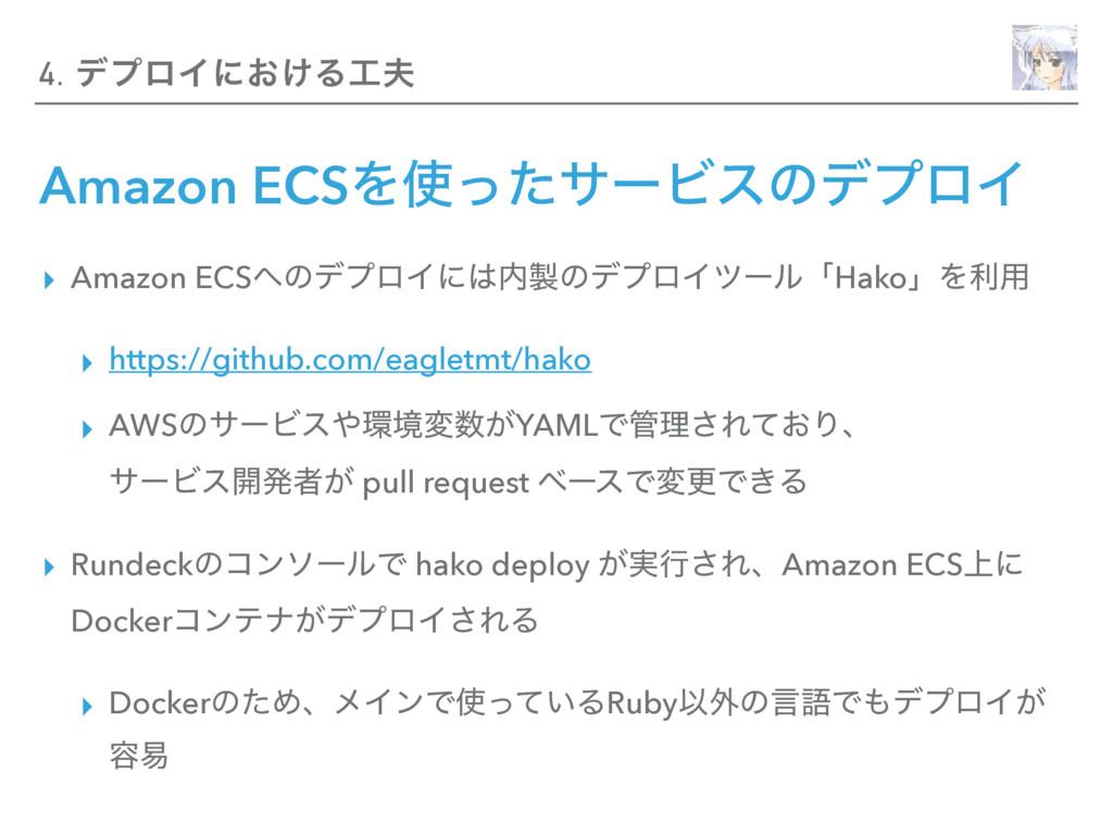 Amazon ECSΛͬͨαʔϏεͷσϓϩΠ ▸ Amazon ECSͷσϓϩΠʹͷ...
