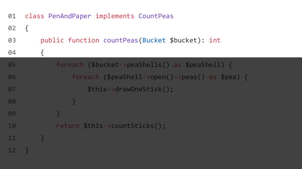 class PenAndPaper implements CountPeas { public...