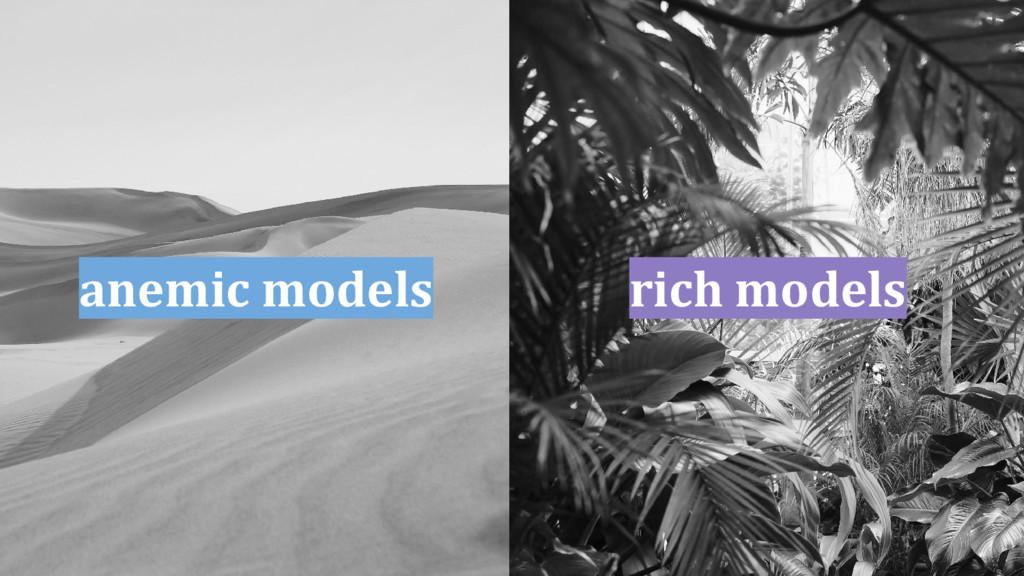 anemic models rich models