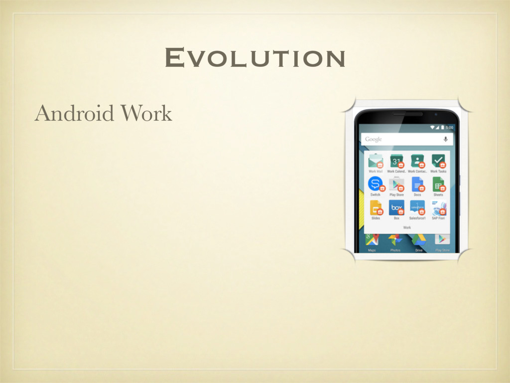 Evolution Android Work