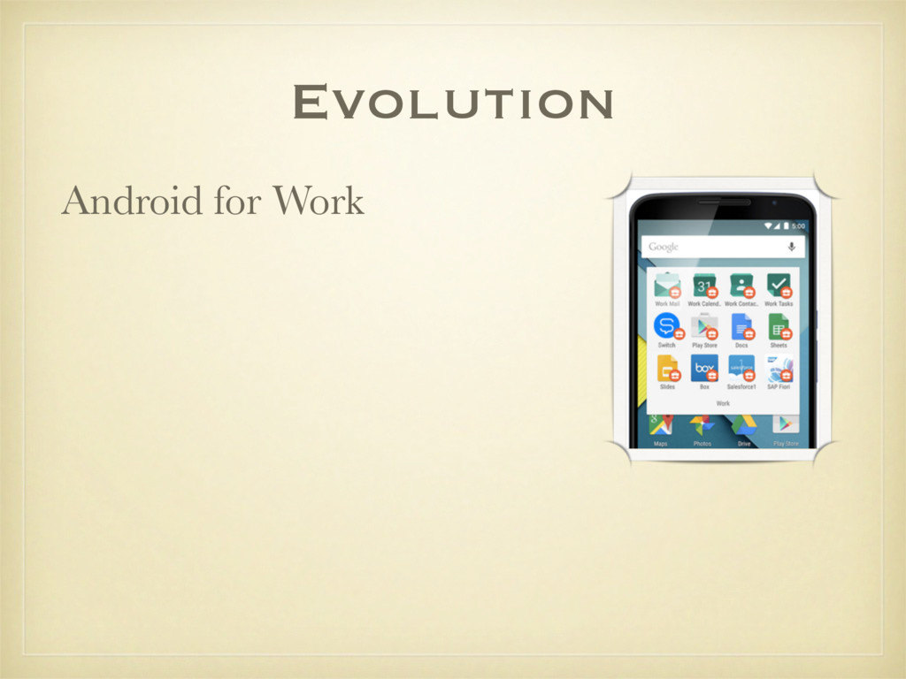 Android for Work Evolution
