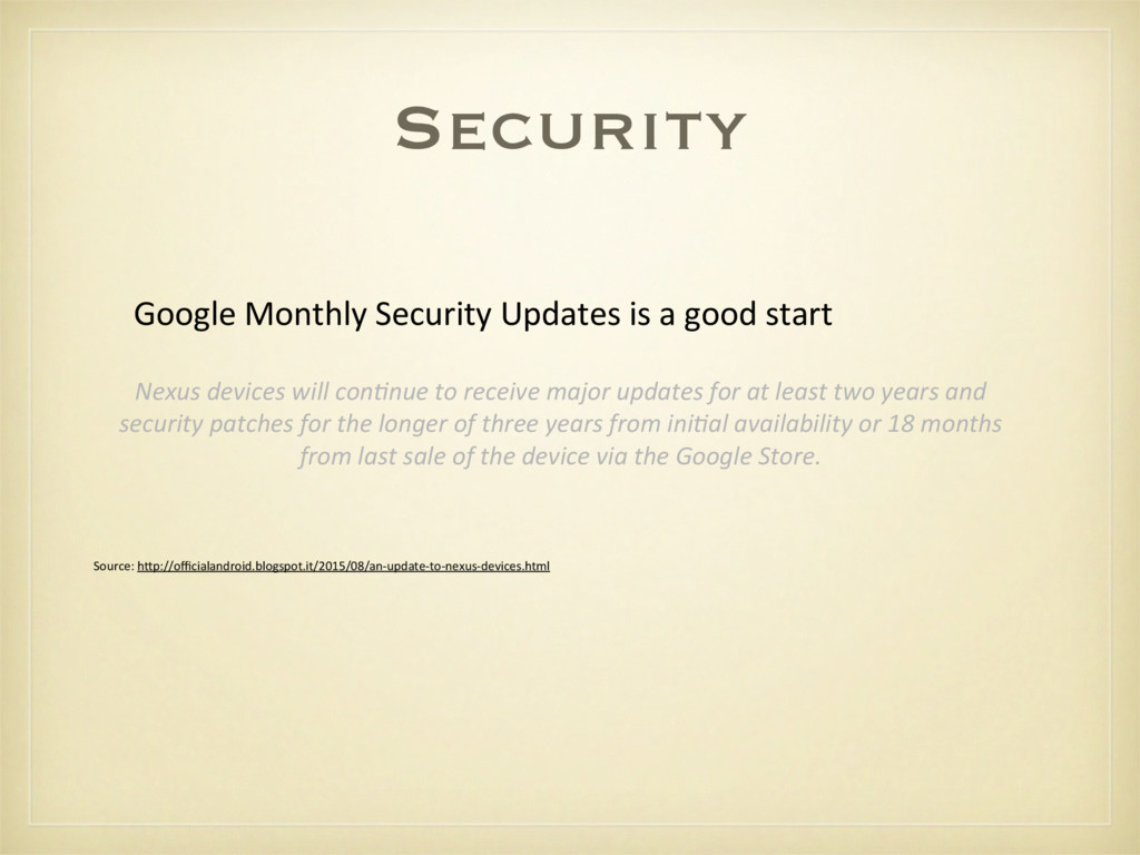 Security Google Monthly Security Updat...