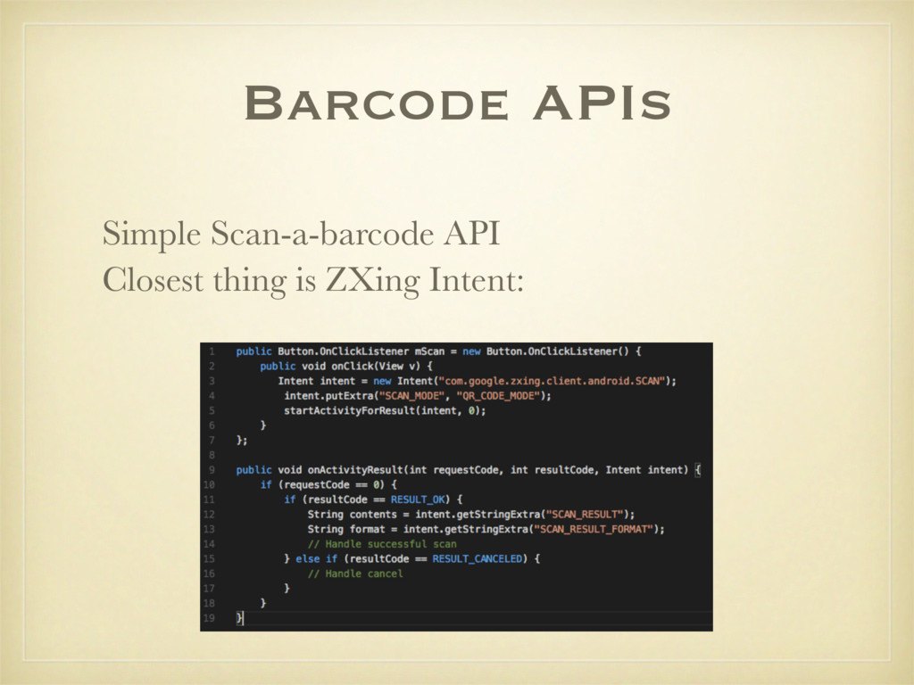 Barcode APIs Simple Scan-a-barcode API Closest ...
