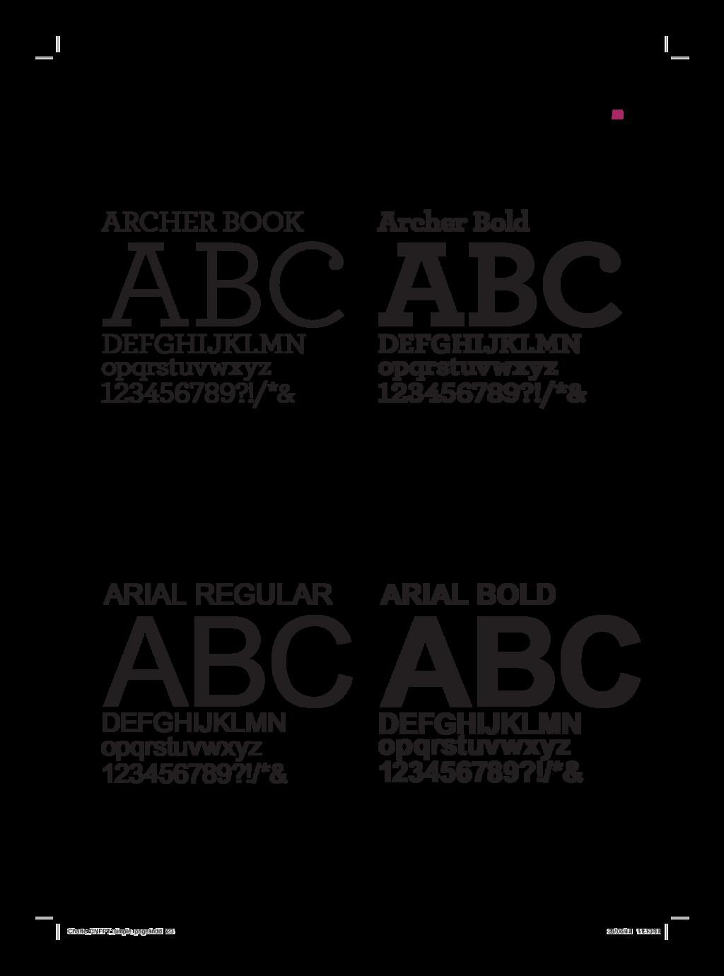 23 Archer Bold ABC DEFGHIJKLMN opqrstuvwxyz 123...