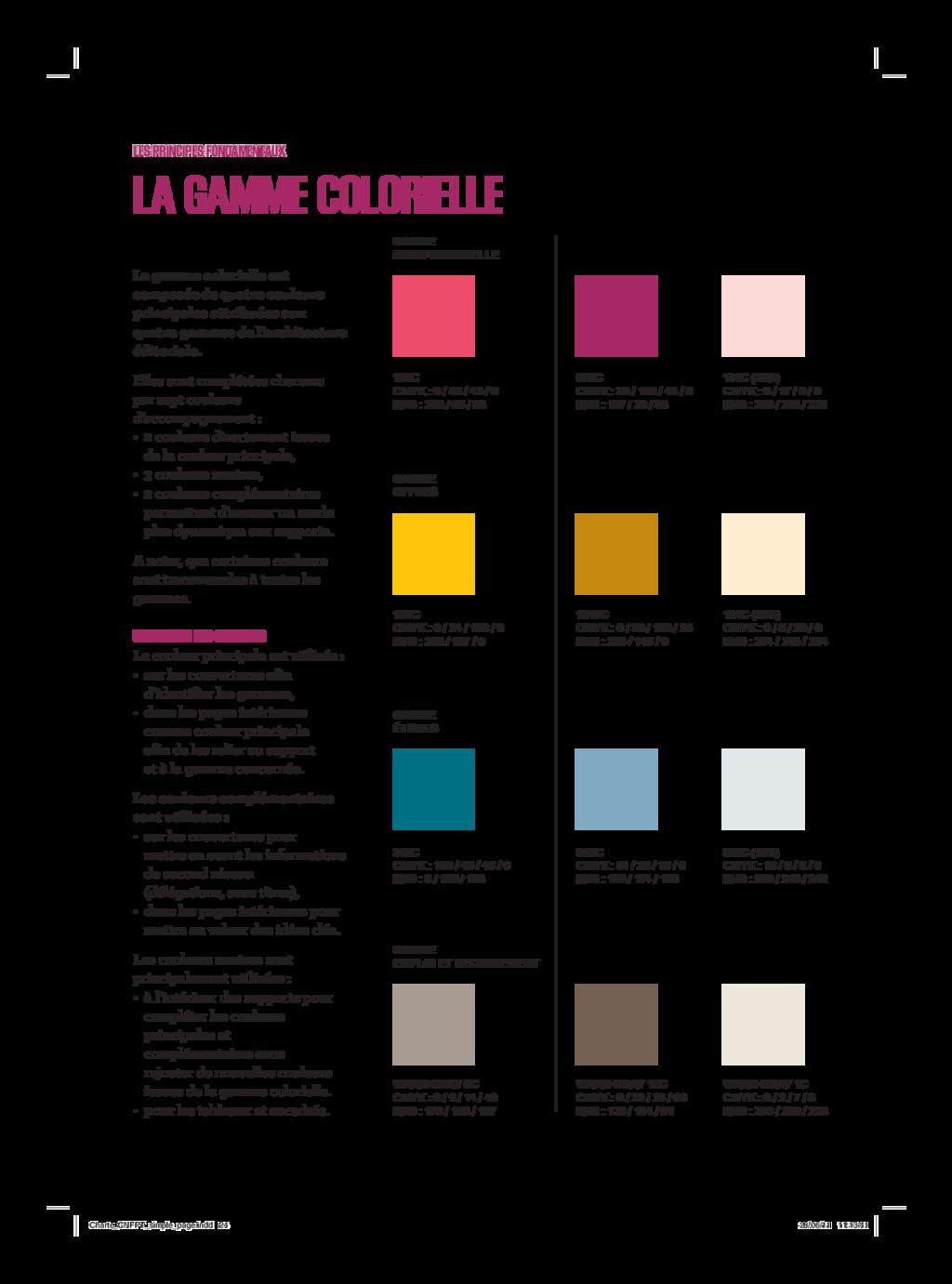 La gamme colorielle est composée de quatre coul...