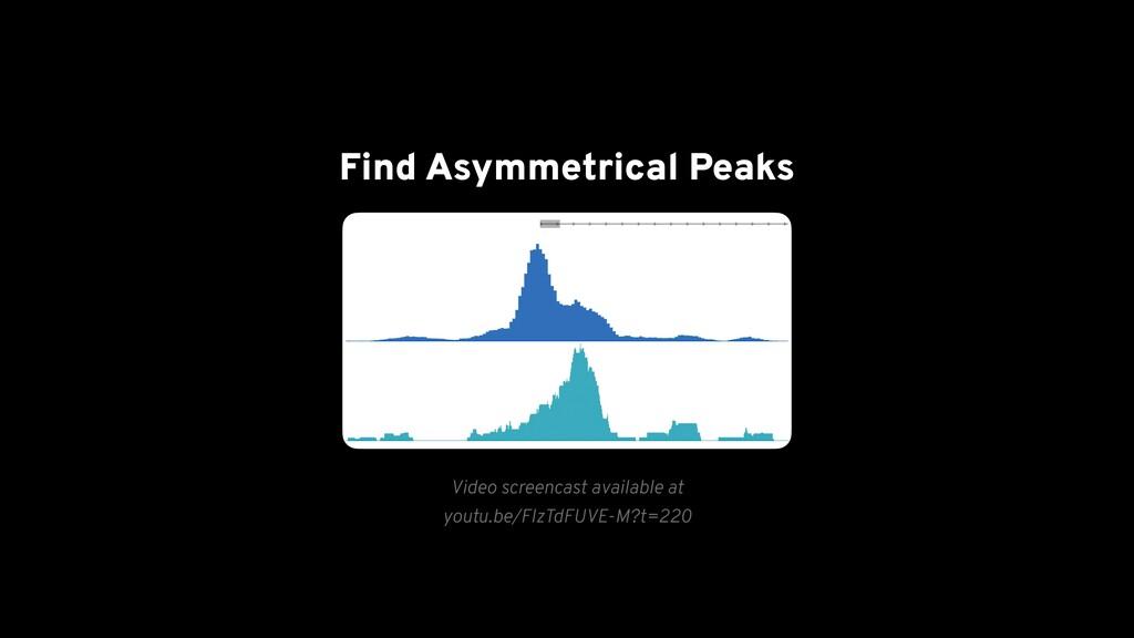 Find Asymmetrical Peaks Video screencast availa...
