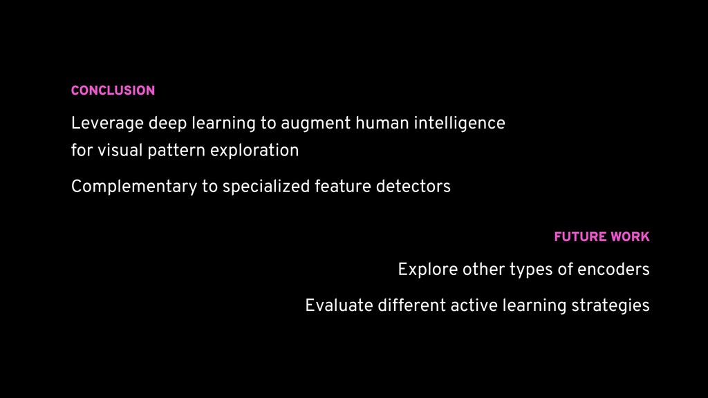 CONCLUSION Leverage deep learning to augment hu...