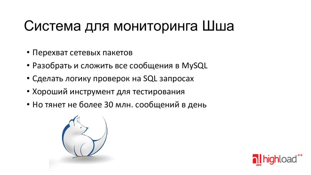 Система для мониторинга Шша • Перехват сетевых ...