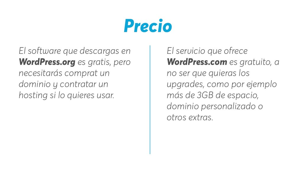 El servicio que ofrece WordPress.com es gratuit...