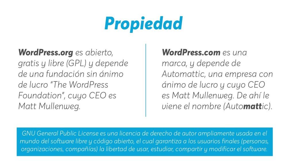 Propiedad WordPress.com es una marca, y depende...