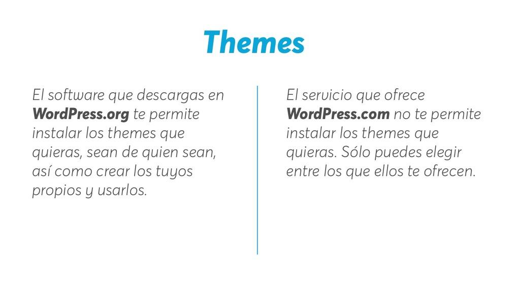 Themes El servicio que ofrece WordPress.com no ...