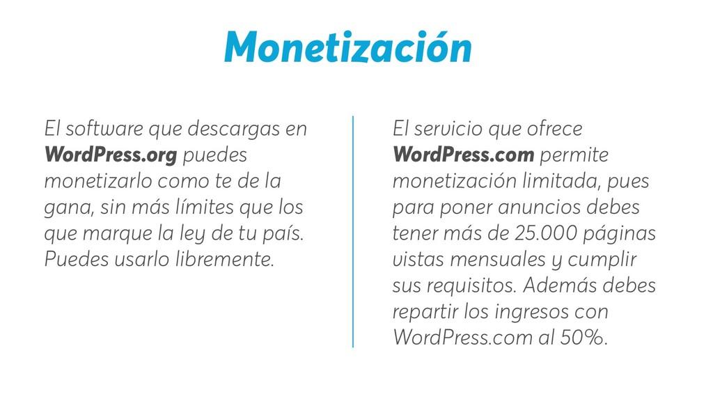 El servicio que ofrece WordPress.com permite mo...