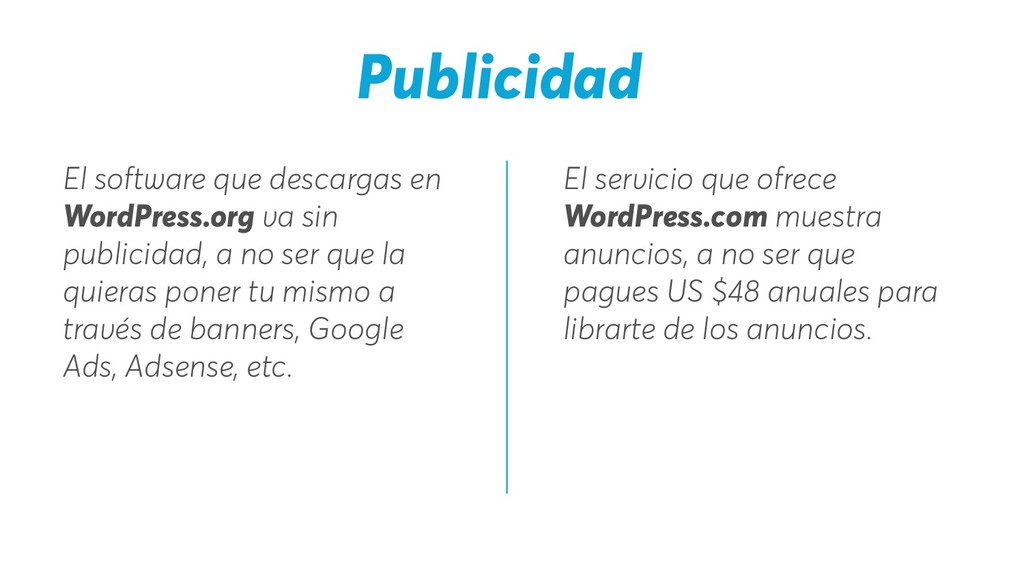 El servicio que ofrece WordPress.com muestra an...