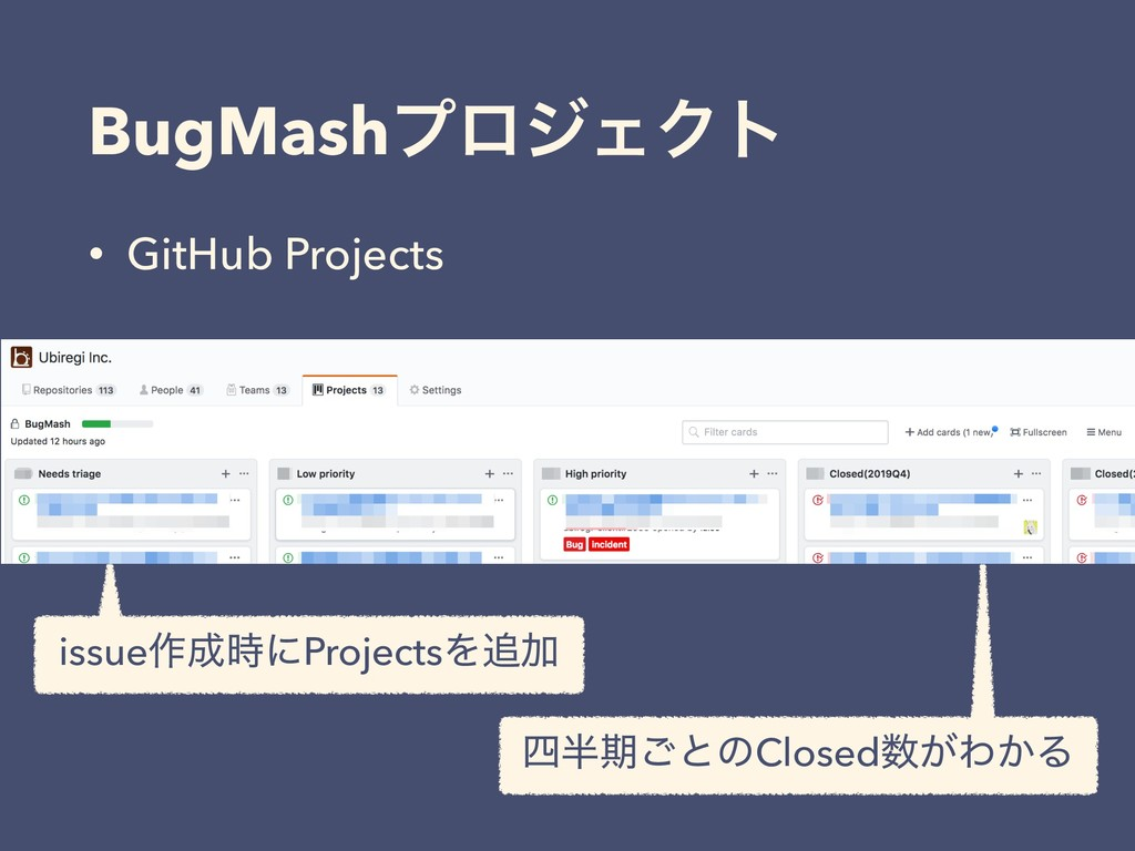 BugMashϓϩδΣΫτ • GitHub Projects issue࡞ʹProjec...