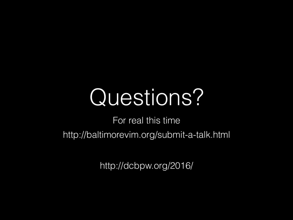 Questions? For real this time http://baltimorev...