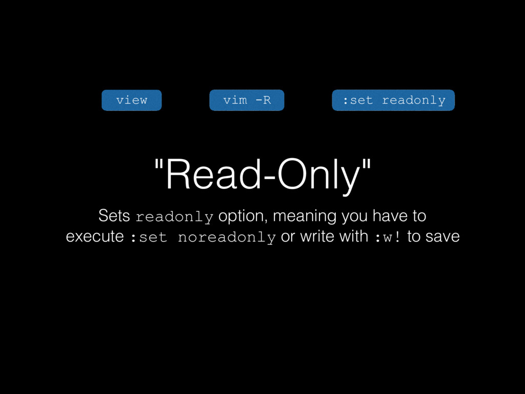 """""""Read-Only"""" Sets readonly option, meaning you h..."""