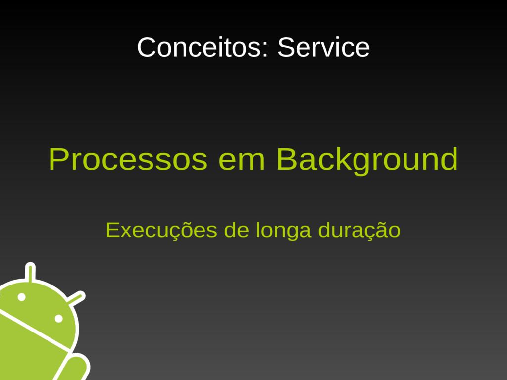 Conceitos: Service Processos em Background Exec...