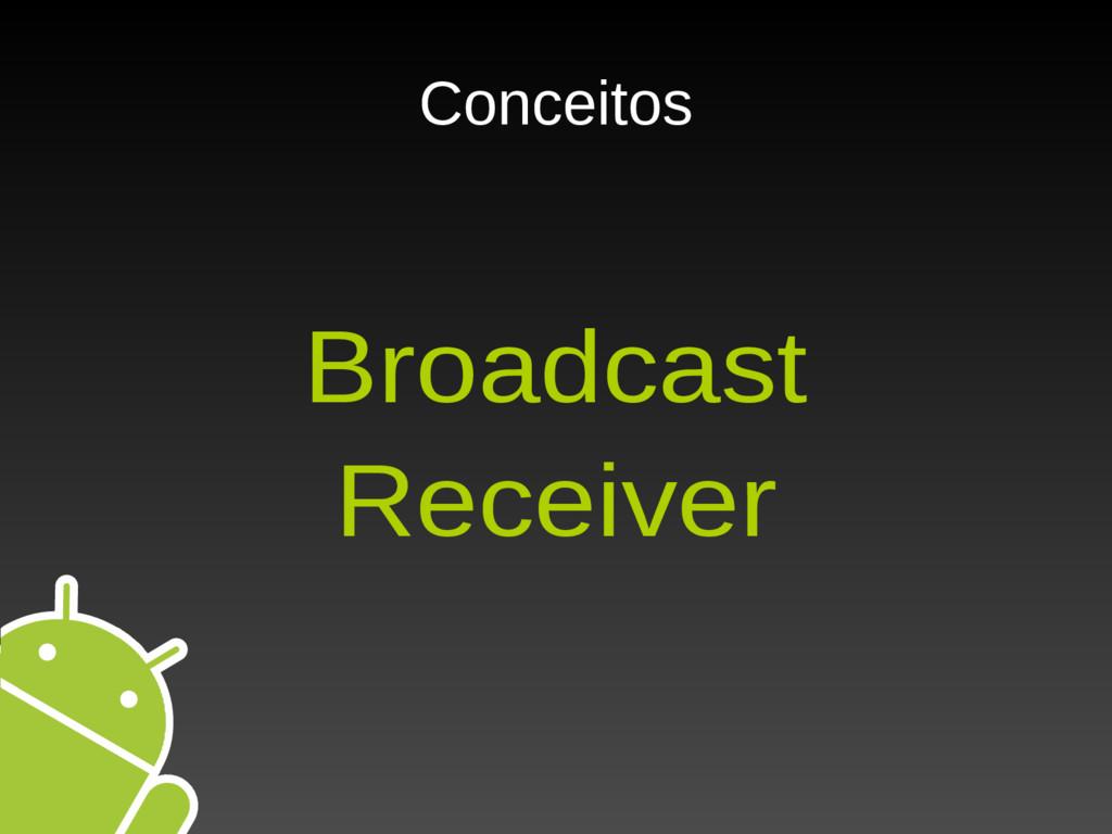 Conceitos Broadcast Receiver