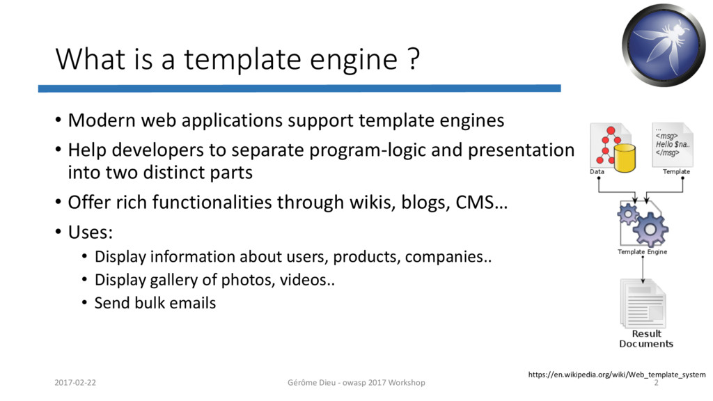 What is a template engine ? • Modern web applic...