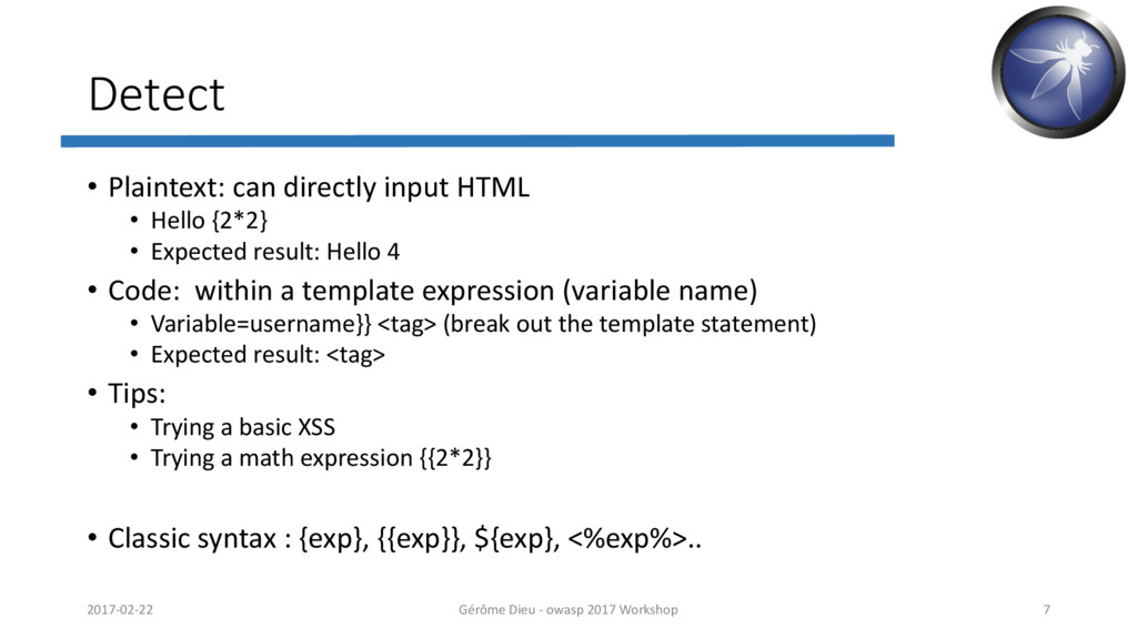 Detect • Plaintext: can directly input HTML • H...