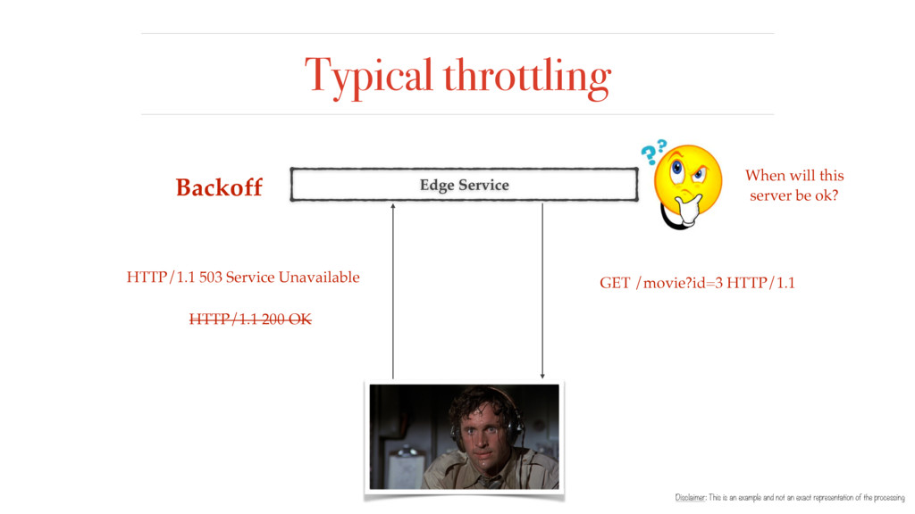 Typical throttling Disclaimer: This is an examp...