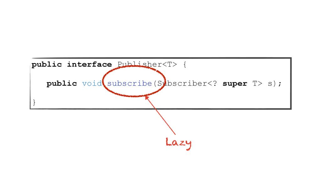 public interface Publisher<T> { public void sub...