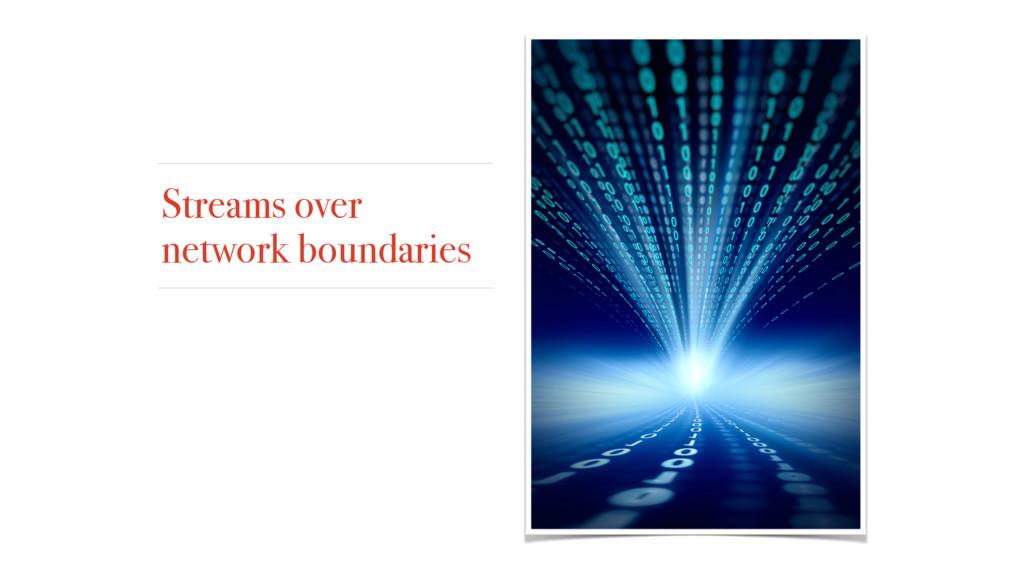Streams over network boundaries
