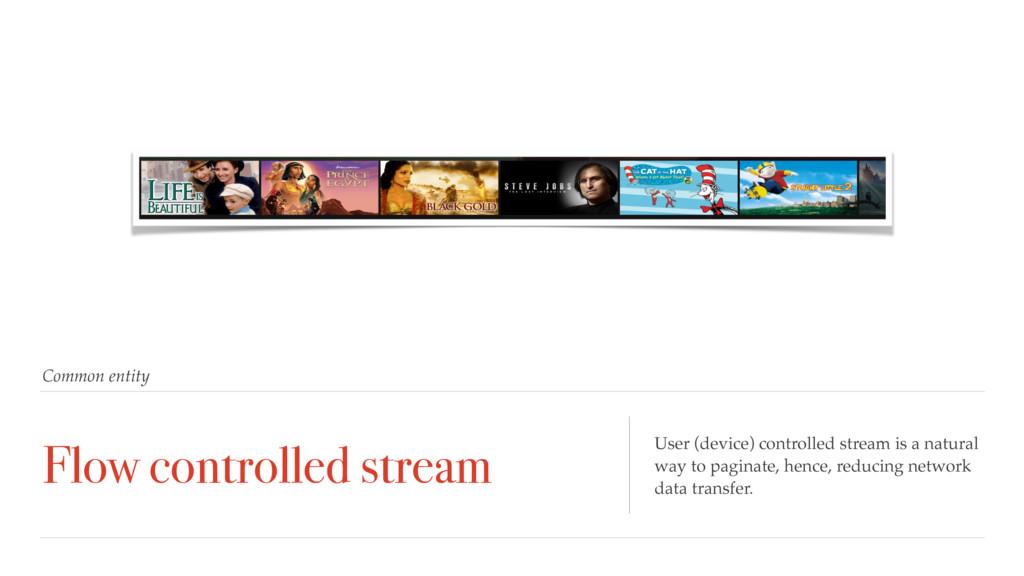 Common entity Flow controlled stream User (devi...