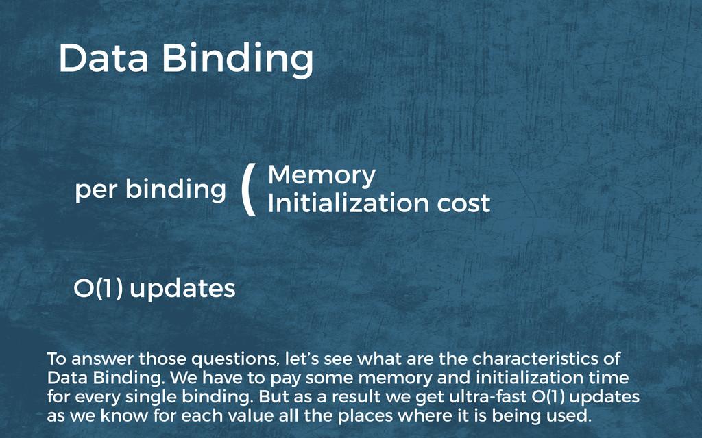 Memory Initialization cost O(1) updates per bin...