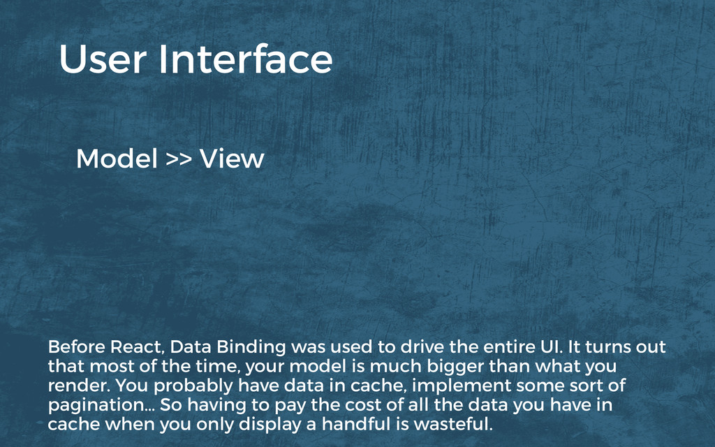 Model >> View User Interface Before React, Data...
