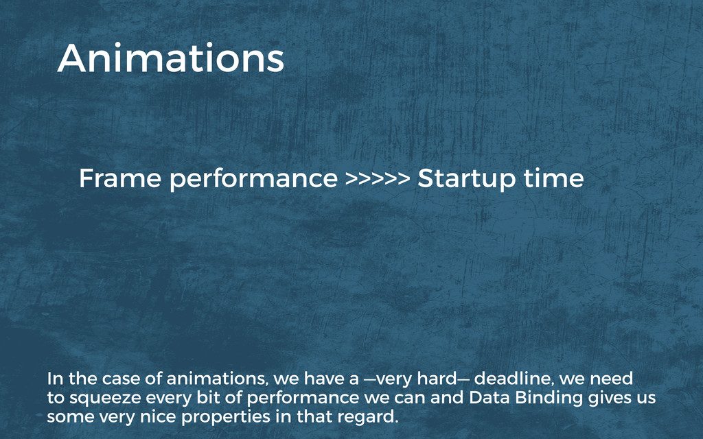 Frame performance >>>>> Startup time Animations...