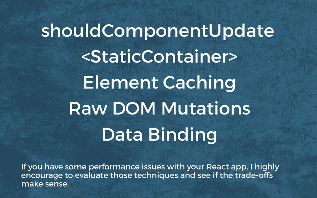<StaticContainer> Element Caching Data Binding ...
