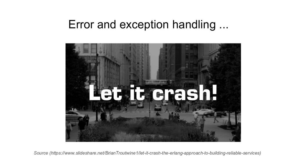 Error and exception handling ... Source (https:...