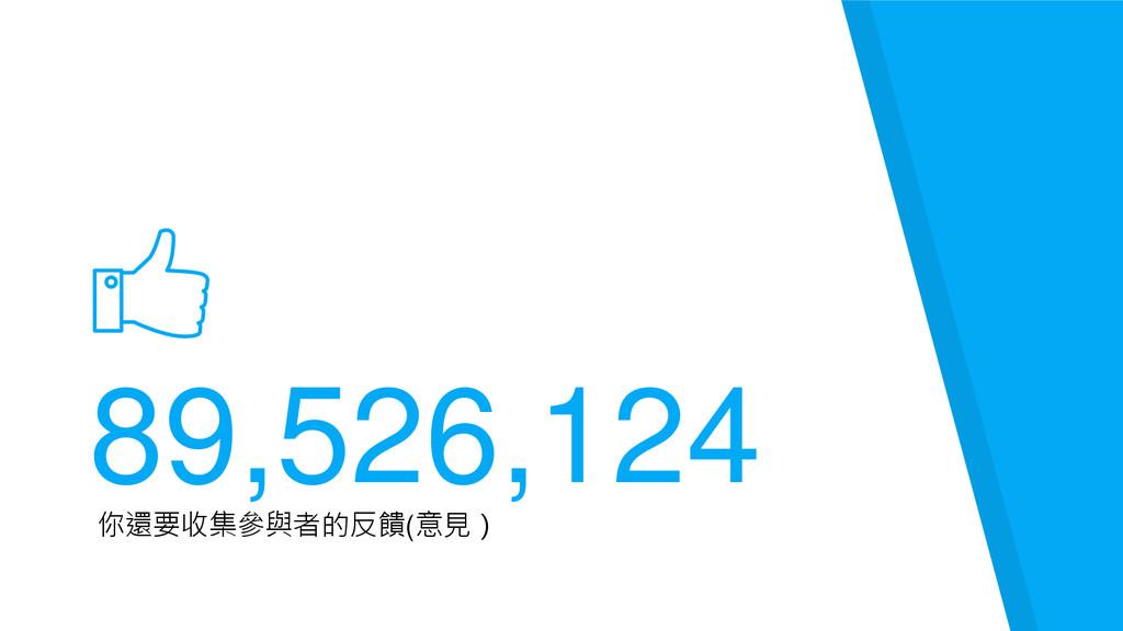 89,526,124 你還要收集參與者的反饋(意見)