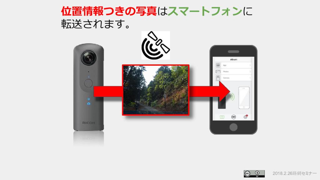 2018.2.26路網セミナー 位置情報つきの写真はスマートフォンに 転送されます。
