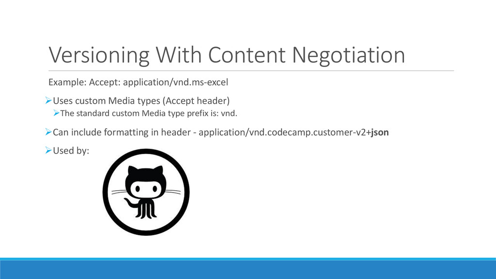 Versioning With Content Negotiation Example: Ac...